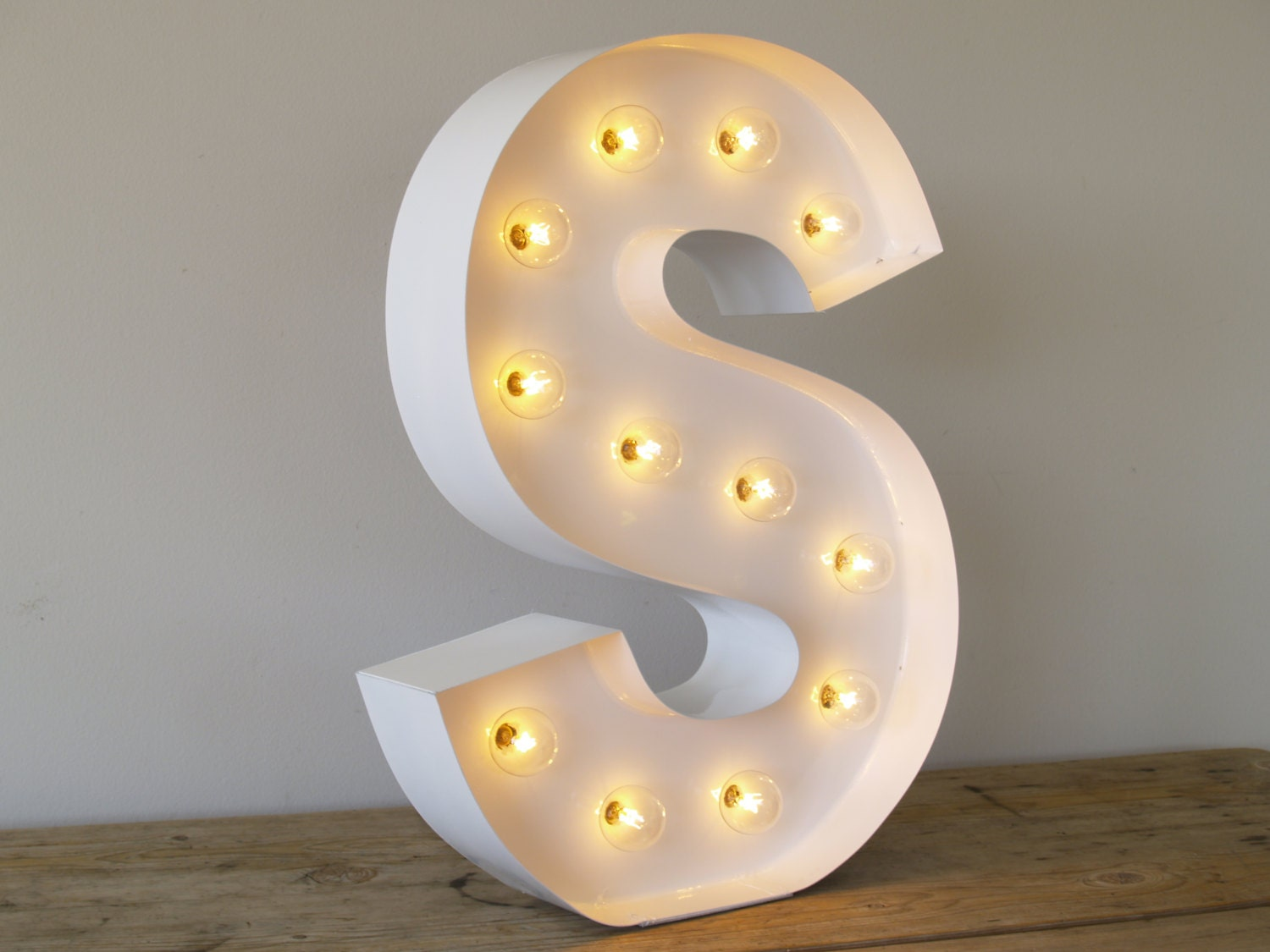 Hollywood letter s with in pure white with by carnivalletters for Hollywood light up letters