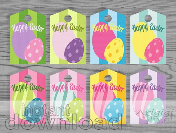 Easter eggs printable gift tags colorful candy gift wrapping easter eggs printable gift tags colorful candy gift wrapping label spring multi colored instant gift tags download negle