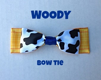 woody clip on bow tie