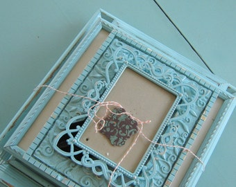 Aqua Shabby Chic Frame Set Gallery Wall Picture Frame Distressed Photo Frame Wall Collection