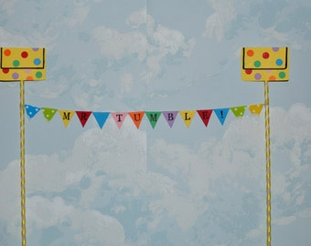 Mr Tumble (something special) personalised cake top bunting