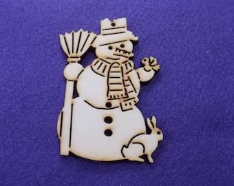 Snowman, wood, 50 pieces, 8 x 6 cm (14-0009B50)
