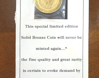 Statue of Liberty Bronze Coin 1986 Centennial Commemorative. Charleston Mint.