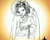 Digital stamp- Kiseng mon amour Korean Hanbok - 300 dpiJpeg files _MAC0025
