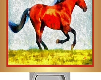 Horse Nightlight - Old Red