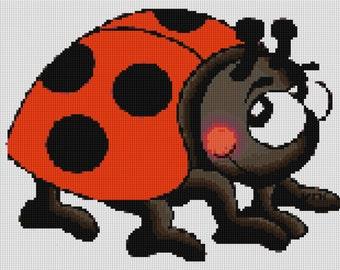 Cute Ladybug Cross Stitch Pattern