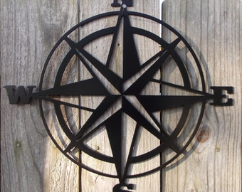 15 in. Compass Metal Wall Hanging (Free Shipping)