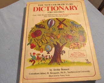 Color-Picture Dictionary for Children; 1500 words for kids to learn;
