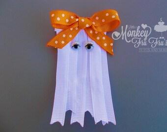 Halloween Ghost Hair Clip/Hair Bow