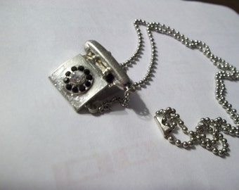 Retro Telephone Necklace