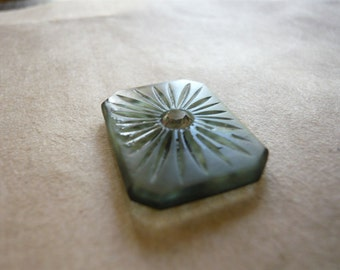 Vintage Glass Sunburst Cabochon