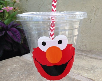 25 Plastic Elmo Party Cups-12 oz