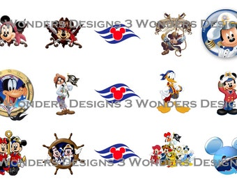 Mouse Cruise bottlecap image sheets ~13 Different ~