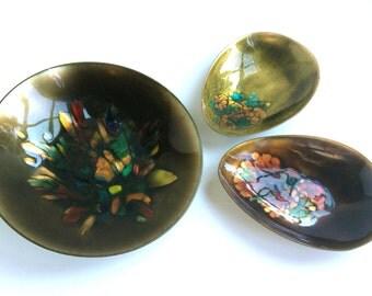 Kareka Modernist Enameled Bowls