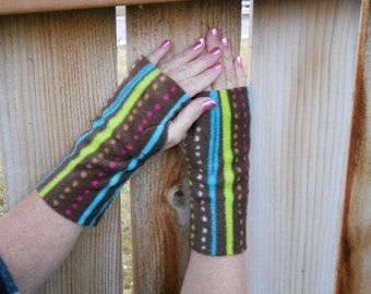 Cozy Fleece Hand Warmers / Fingerless Gloves