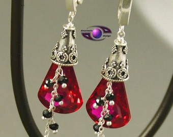 Pink Topaz Spinel Earrings