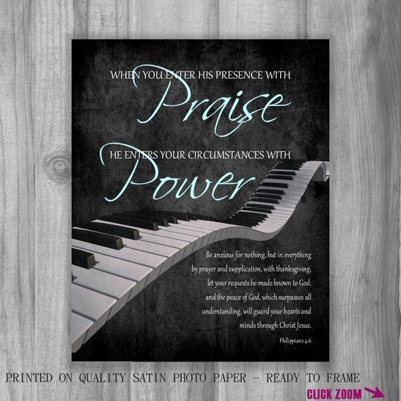 Worship leader gift piano scripture art philippians 46 7 like this item negle Gallery