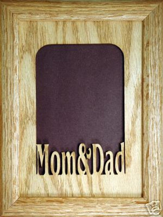 Mom And Dad Picture Frame 5x7 From Stansgiftshandmade On