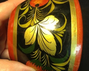 Bowl (cup) Russian vintage Khokhloma. USSR
