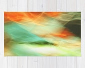 Rug -  2'x3'  3'x5' 4'x6'  - Abstract Art II Blue/Black/Green/Red  - blue turquoise green photography photo