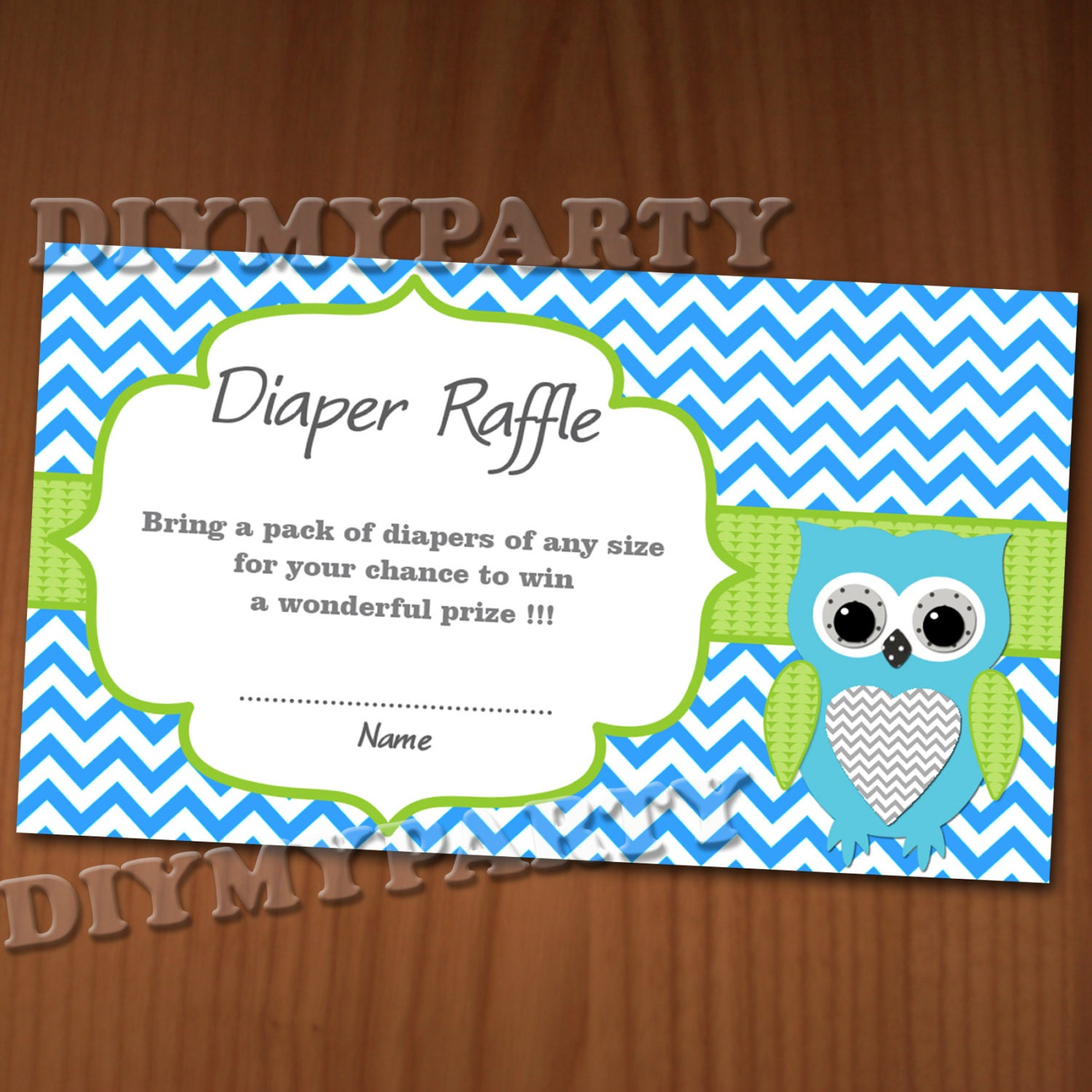 Baby Shower Diaper Raffle: Owl Baby Shower Diaper Raffle Ticket Diaper Raffle Cards