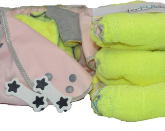 WonderFull Hand Made Fitted Microfiber Cloth Diaper Value Bundle