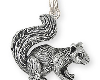 Silver Squirrel Charm Jewelry -  SQ1-c
