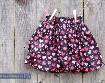 Valentine bubble skirt