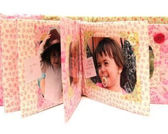 Photo Album- Baby Photo Album- Fabric Photo Album- Fancy Baby BragBook