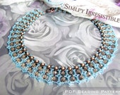 Tutorial for beadwoven Swarovski bead 'Simply Irresistible' necklace - PDF beading pattern - DIY