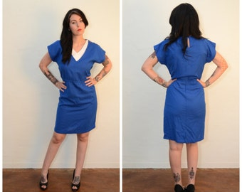 Vintage Blue Day Dress
