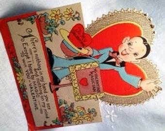 Mr. Valentine Magician Vintage Valentine