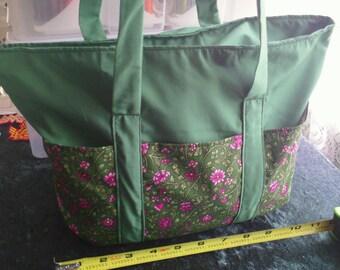 Novelty tote bag - Purple flowers