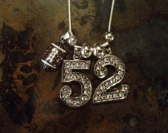 "20"" Personalized Rhinestone Sports Jersey TWO Number Necklace FOOTBALL Charm MOM"