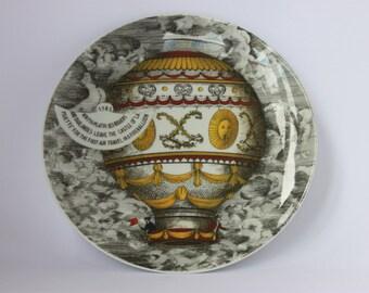 Rosenthal Fornasetti plate motiv 2 Montgolfier hot air balloon