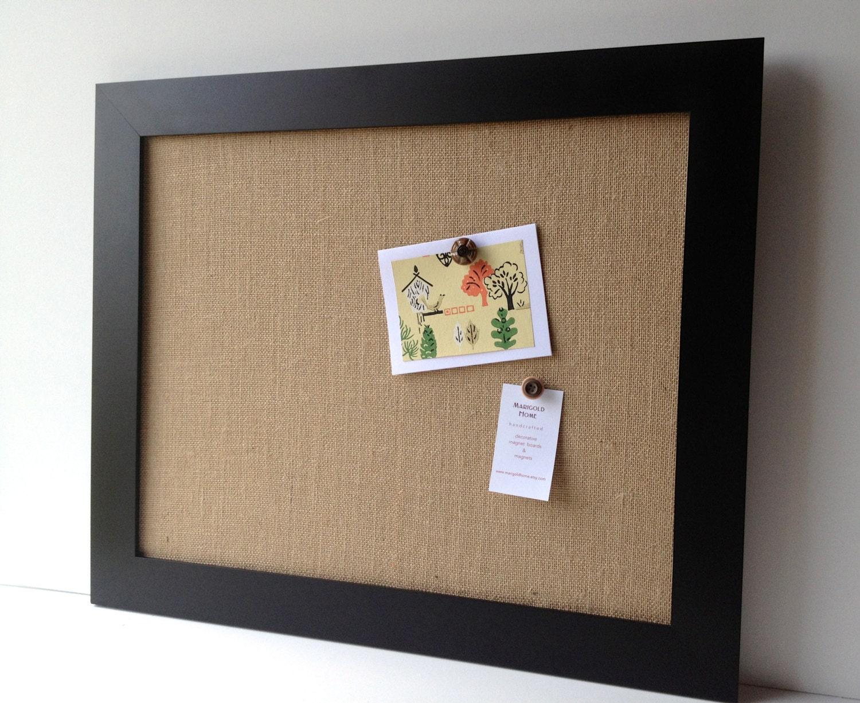 Burlap bulletin board oversize magnetic framed memo board for Office display board