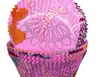 Pink Flower and Butterfly Cupcake Cases x60