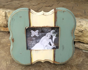 Handmade distressed 5x7 frame