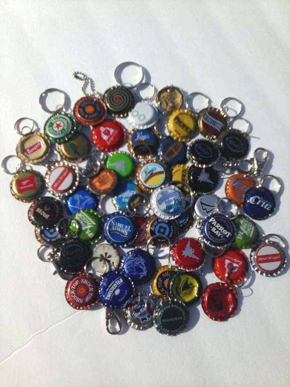 upcycled bottle cap key chains beer bottle by