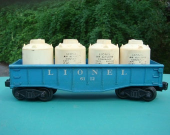 Lionel Trains 6112 Blue Gondola With White Canisters