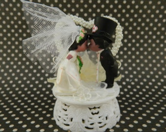African American Vintage Cake Topper / Wedding /