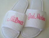 Wedding Slippers New Bride  Custom Embroidery Gifts Under 30 Dollars