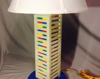 LEGO® Lamp - XXL Big Tall White & Multicolored Rainbow