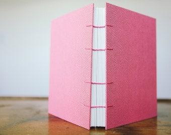 Pink & Gold Notebook Sketchbook or Journal // Coptic