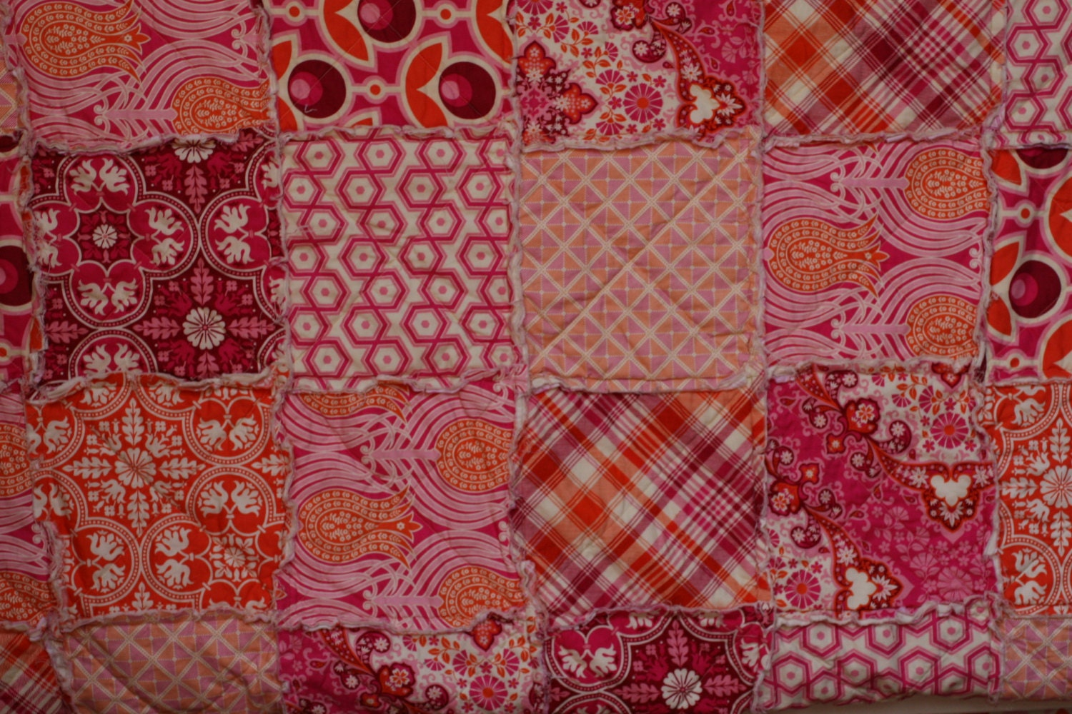Queen Size Quilt King Size Quilt Rag by LittleSunshineQuilts