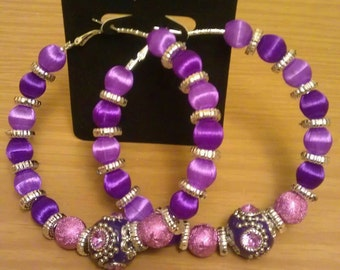 Love and Hip Hop and Basketball wives inspired hoop with purple beads