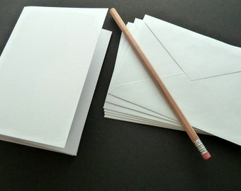 SALE - 50 Count - Blank Notecards With Envelopes - White Notecards - Stationary - Blank Cards - Card Set