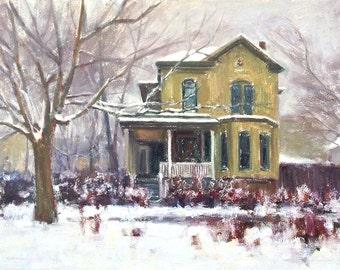 Karl Thomas Plein Air Painting Oil on Canvas Salt Lake Historic Home Avenues Plein Air Impressionism