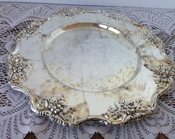 Godinger Silver Art tray with grapes