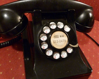 SALE - Vintage Western Electric Bell System Rotary Lucy Telephone